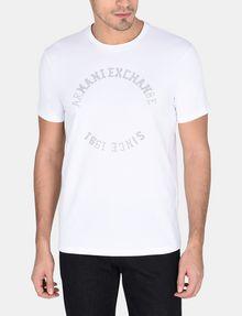 ARMANI EXCHANGE STUDDED CIRCLE CREW Logo T-shirt Man f