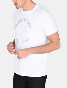 ARMANI EXCHANGE STUDDED CIRCLE CREW Logo T-shirt Man r