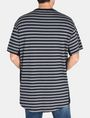 ARMANI EXCHANGE CIRCLE PATCH OVERSIZED CREW S/S Knit Top Man r