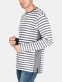 ARMANI EXCHANGE LONG-SLEEVE OVERSIZED STRIPE CREW L/S Knit Top Man d