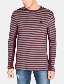 ARMANI EXCHANGE LONG-SLEEVE OVERSIZED STRIPE CREW L/S Knit Top Man f