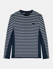 ARMANI EXCHANGE LONG-SLEEVE OVERSIZED STRIPE CREW L/S Knit Top Man b