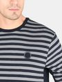 ARMANI EXCHANGE LONG-SLEEVE OVERSIZED STRIPE CREW L/S Knit Top Man e