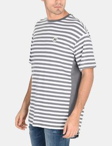 ARMANI EXCHANGE CIRCLE PATCH OVERSIZED CREW S/S Knit Top Man d