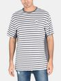 ARMANI EXCHANGE CIRCLE PATCH OVERSIZED CREW S/S Knit Top Man f