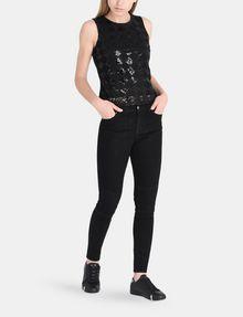 ARMANI EXCHANGE SEQUIN ARGYLE TANK S/L Knit Top Woman a