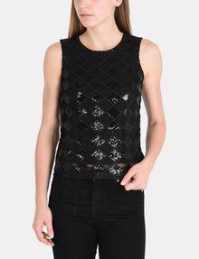 ARMANI EXCHANGE SEQUIN ARGYLE TANK S/L Knit Top Woman f