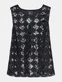 ARMANI EXCHANGE SEQUIN ARGYLE TANK S/L Knit Top Woman b