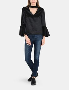 ARMANI EXCHANGE VELVET BELL-SLEEVE TOP L/S Woven Top Woman a