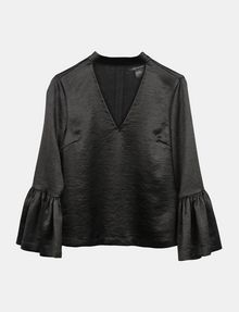 ARMANI EXCHANGE VELVET BELL-SLEEVE TOP L/S Woven Top Woman b