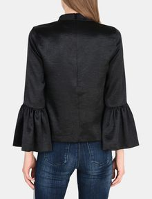 ARMANI EXCHANGE VELVET BELL-SLEEVE TOP L/S Woven Top Woman r