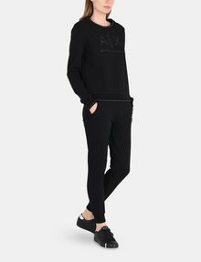 ARMANI EXCHANGE CRYSTAL EMBELLISHED SWEATSHIRT TOP Fleece Top D a