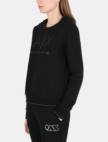 ARMANI EXCHANGE CRYSTAL EMBELLISHED SWEATSHIRT TOP Fleece Top D d