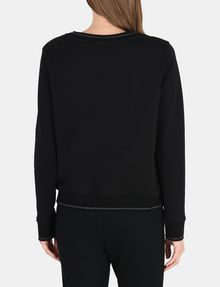 ARMANI EXCHANGE CRYSTAL EMBELLISHED SWEATSHIRT TOP Fleece Top D r