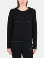 ARMANI EXCHANGE CRYSTAL EMBELLISHED SWEATSHIRT TOP Fleece Top D f
