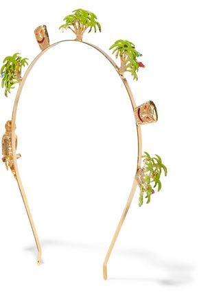 ROSANTICA Palma gold-tone enameled headband