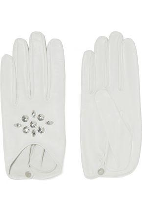 CAUSSE GANTIER Glam embellished leather gloves