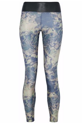 KORAL Emulate printed-paneled stretch leggings