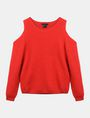 ARMANI EXCHANGE COLD SHOULDER CUTOUT SWEATER Pullover Woman b