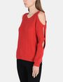 ARMANI EXCHANGE COLD SHOULDER CUTOUT SWEATER Pullover Woman d