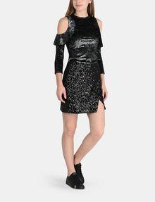 ARMANI EXCHANGE SEQUIN WRAP MINI SKIRT Mini skirt Woman a