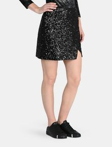 ARMANI EXCHANGE SEQUIN WRAP MINI SKIRT Mini skirt Woman d