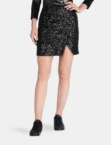 ARMANI EXCHANGE SEQUIN WRAP MINI SKIRT Mini skirt Woman f