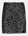 ARMANI EXCHANGE SEQUIN WRAP MINI SKIRT Mini skirt Woman b
