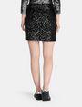 ARMANI EXCHANGE SEQUIN WRAP MINI SKIRT Mini skirt Woman r