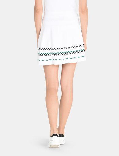 ZIGZAG JACQUARD SWEATER SKIRT