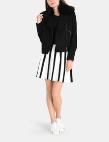 ARMANI EXCHANGE UNEVEN STRIPE FLARED MINI Mini skirt Woman a