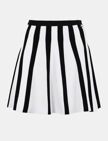 ARMANI EXCHANGE UNEVEN STRIPE FLARED MINI Mini skirt Woman b