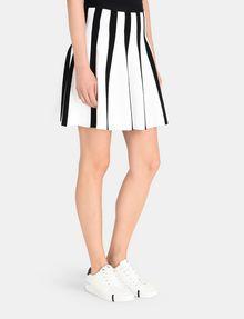 ARMANI EXCHANGE UNEVEN STRIPE FLARED MINI Mini skirt Woman d