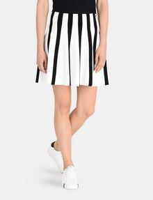 ARMANI EXCHANGE UNEVEN STRIPE FLARED MINI Mini skirt Woman f