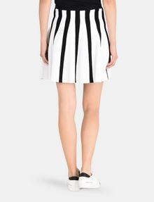 ARMANI EXCHANGE UNEVEN STRIPE FLARED MINI Mini skirt Woman r