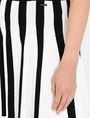 ARMANI EXCHANGE UNEVEN STRIPE FLARED MINI Mini skirt Woman e