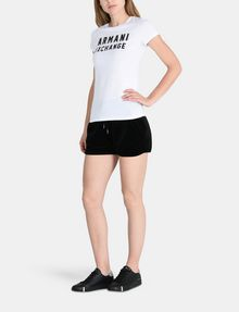 ARMANI EXCHANGE PULL-ON VELVET TRACK SHORT Shorts Woman a