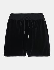 ARMANI EXCHANGE PULL-ON VELVET TRACK SHORT Shorts Woman b