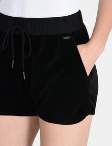ARMANI EXCHANGE PULL-ON VELVET TRACK SHORT Shorts Woman e