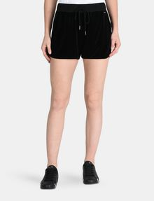 ARMANI EXCHANGE PULL-ON VELVET TRACK SHORT Shorts Woman f