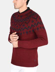 ARMANI EXCHANGE NORDIC INTARSIA CREWNECK SWEATER Pullover Man d