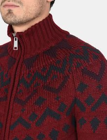 ARMANI EXCHANGE NORDIC INTARSIA FULL-ZIP SWEATER Layering Man e