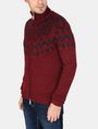 ARMANI EXCHANGE NORDIC INTARSIA FULL-ZIP SWEATER Layering Man d
