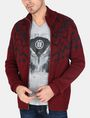 ARMANI EXCHANGE NORDIC INTARSIA FULL-ZIP SWEATER Layering Man f