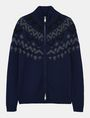 ARMANI EXCHANGE NORDIC INTARSIA FULL-ZIP SWEATER Layering Man b