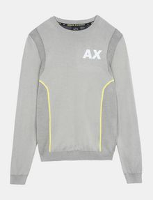 ARMANI EXCHANGE REFLECTIVE PRINT CREWNECK SWEATER Pullover Man b