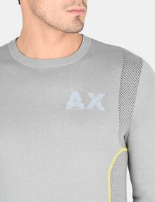 ARMANI EXCHANGE REFLECTIVE PRINT CREWNECK SWEATER Pullover Man e