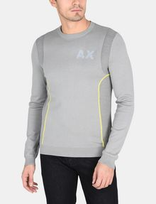ARMANI EXCHANGE REFLECTIVE PRINT CREWNECK SWEATER Pullover Man f