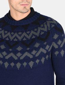 ARMANI EXCHANGE NORDIC INTARSIA CREWNECK SWEATER Pullover Man e