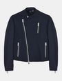 ARMANI EXCHANGE FLEECE ASYMMETRICAL MOTO JACKET Fleece Jacket Man b